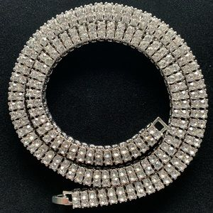 Other - White Gold Double Row Tennis Chain 10mm